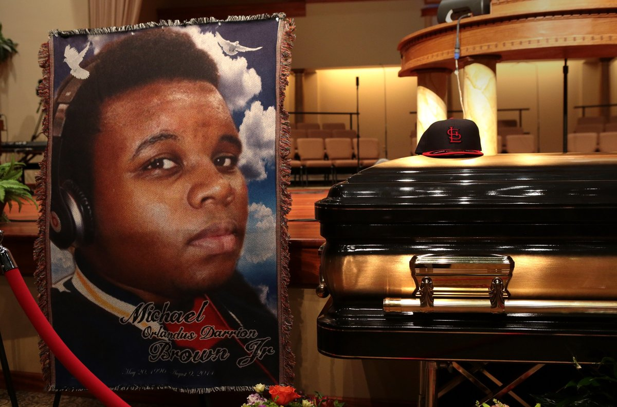"""On Aug. 9, the unarmed 18-year-old was <a href=""""http://www.huffingtonpost.com/2014/11/25/ferguson-timeline_n_6220166.html"""" ta"""
