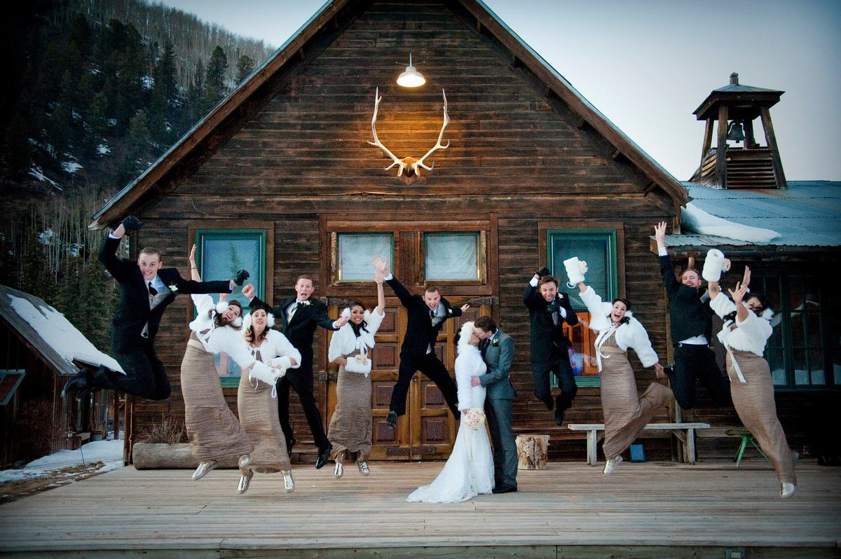 """""""Jake and Sylvia said 'I do' in an outdoor winter wedding ceremony at Dunton Hot Springs in Colorado."""" -- Marie Kubin, Rent M"""