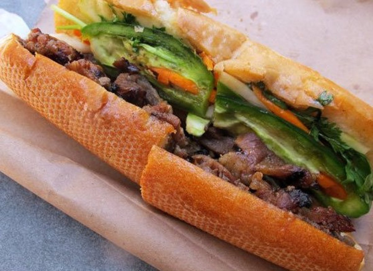 <em>Photo Credit: BBQ Pork Banh Mi from the Vietnamese Sandwiches stand at Main and Market Streets by Gary StevensCC BY 2.0</