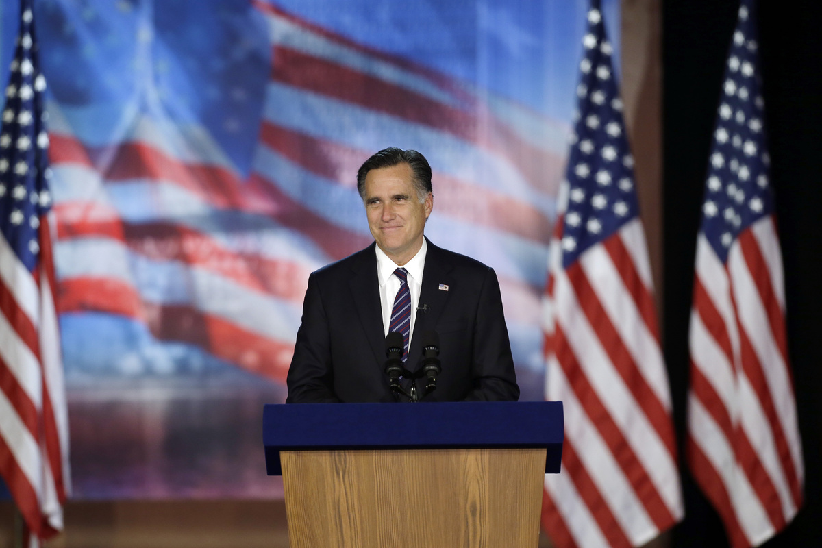 Days after losing the election to Obama, Romney and his wife, Ann, went to the movies in Del Mar, California, where they went