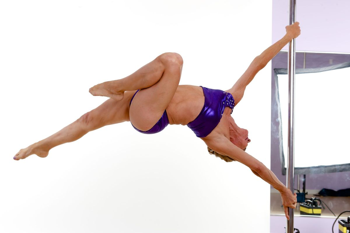 Greta Pontarelli is 63 years old. Greta only started pole dancing two years ago, when she was diagnosed with osteoporosis, a