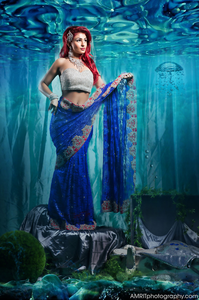 9 photos of disney princesses transformed into indian brides huffpost ariel thecheapjerseys Image collections