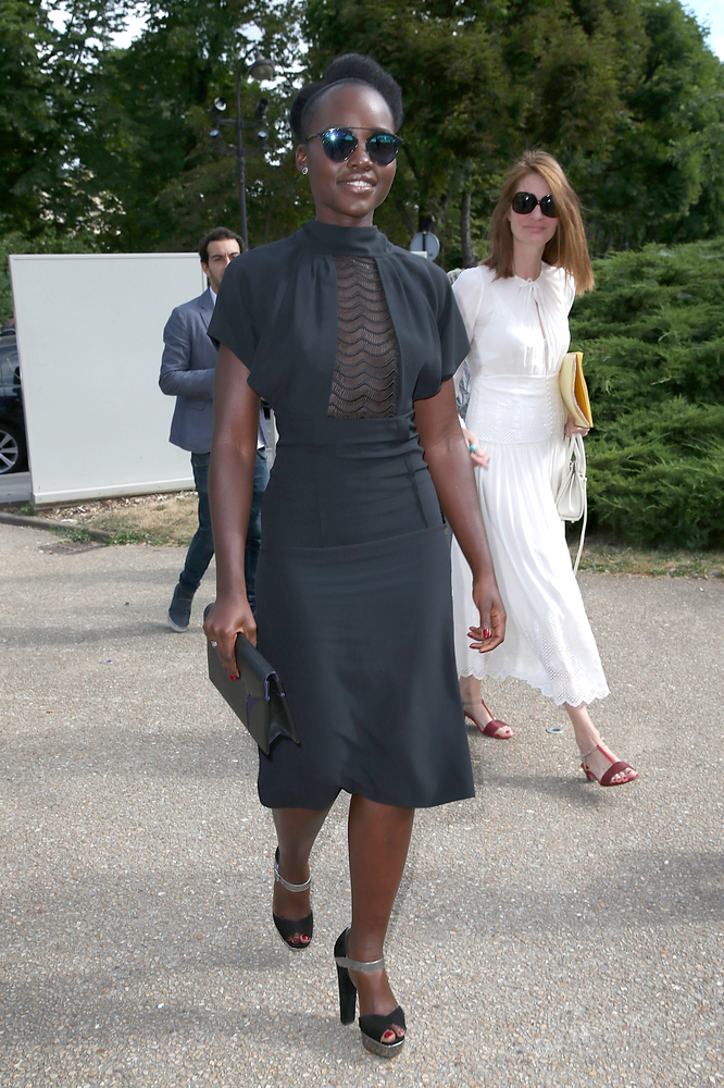 <strong>Lupita Nyong'o in Maison Margiela:</strong> This look proves Nyong'o's versatility. While we usually see the actress
