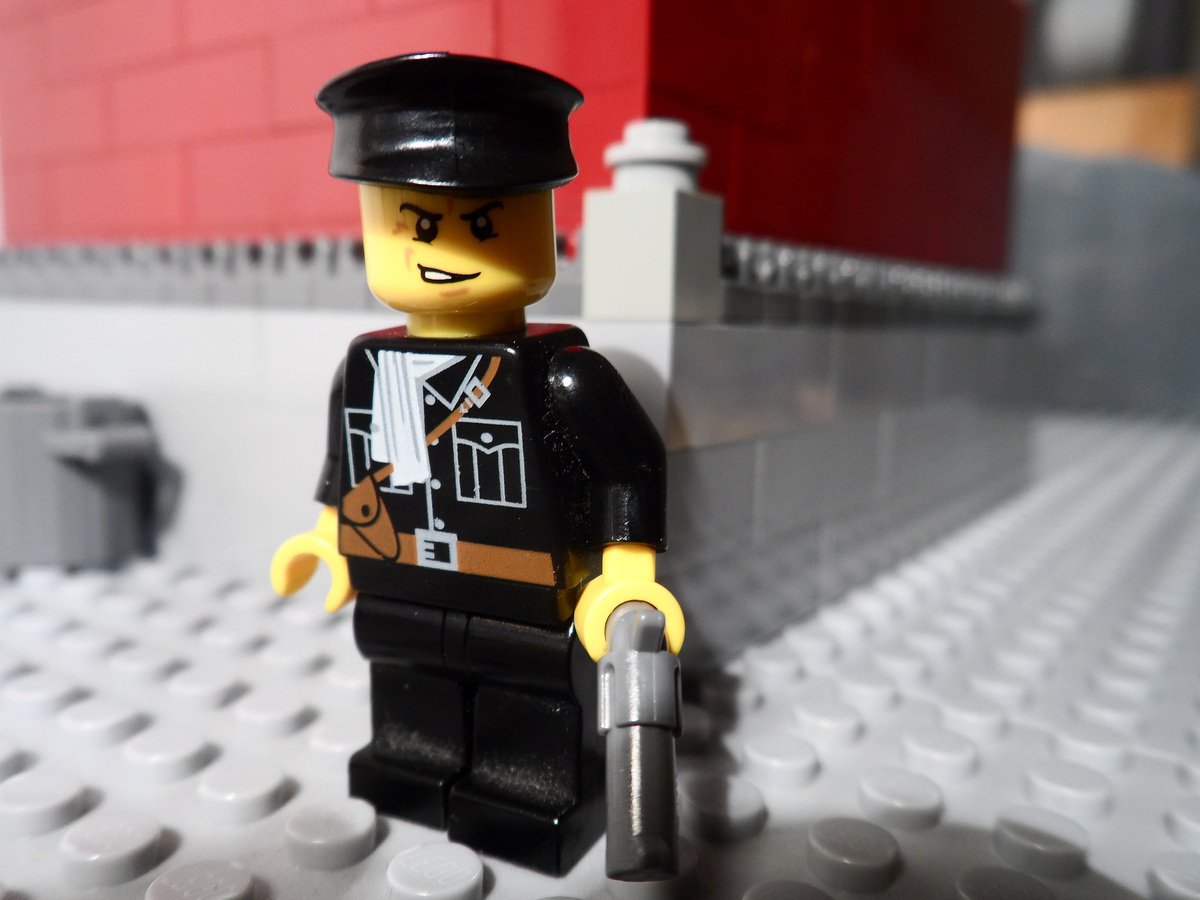 "He got an ""A"" for his work and now his <a href=""https://www.flickr.com/photos/fithboy/"" target=""_blank"">LEGO Hitler gallery</"