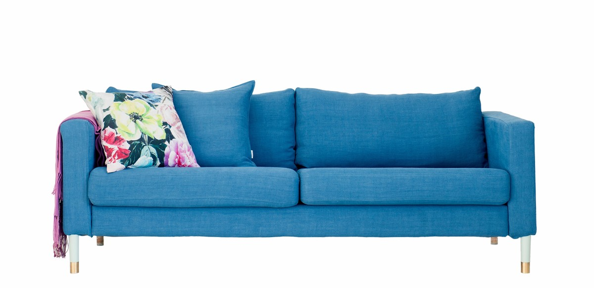 So a single IKEA sofa may only get you through your child's elementary school years, but a well-made slipcover should last lo