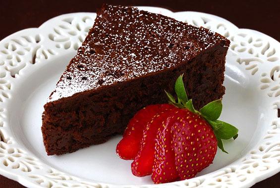 Flourless chocolate cake recipe real simple magazine