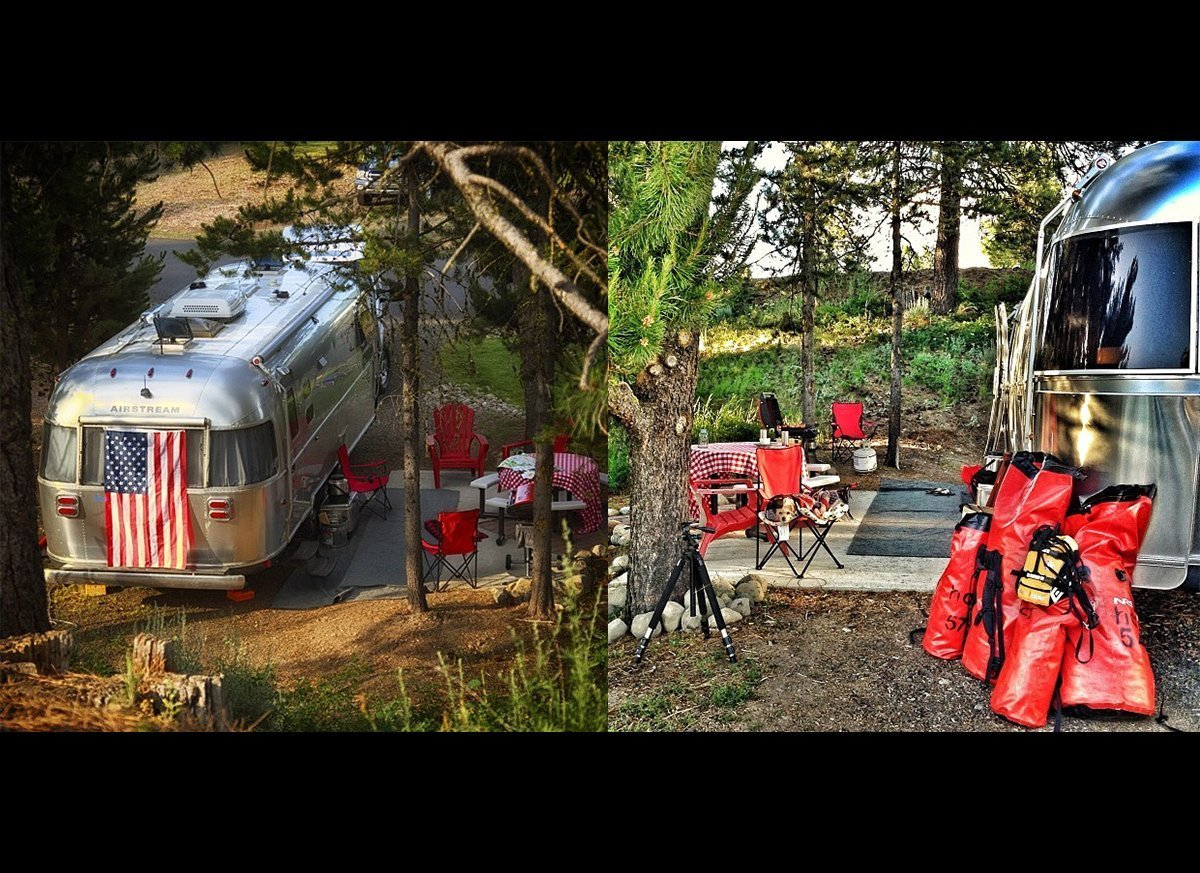 Our Airstream Camp at the McCall RV Resort in Idaho.
