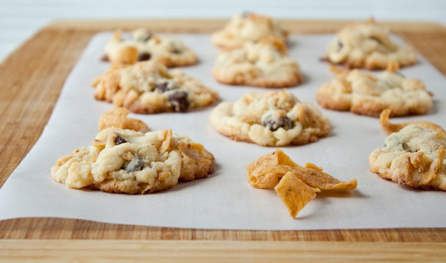 """<strong>Get the <a href=""""http://www.dessertfortwo.com/2013/08/frito-chocolate-chip-cookies-for-amber/"""" target=""""_blank"""">Frito"""