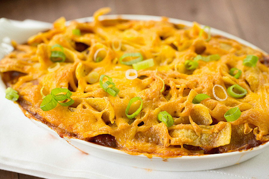"""<strong>Get the <a href=""""http://www.browneyedbaker.com/frito-chili-pie-recipe/"""" target=""""_blank"""">Frito Pie recipe</a> from Bro"""
