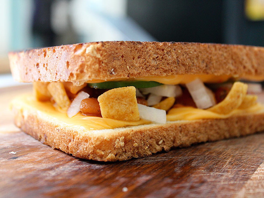 """<strong>Get the <a href=""""http://www.fromaway.com/cooking/todays-sandwich-frito-pie-grilled-cheese-homemade"""" target=""""_blank"""">F"""