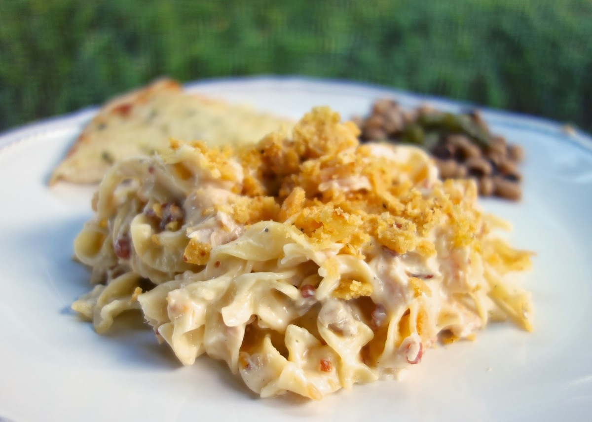 """<strong>Get the <a href=""""http://www.plainchicken.com/2013/10/cracked-out-chicken-noodle-casserole.html"""" target=""""_blank"""">Crack"""