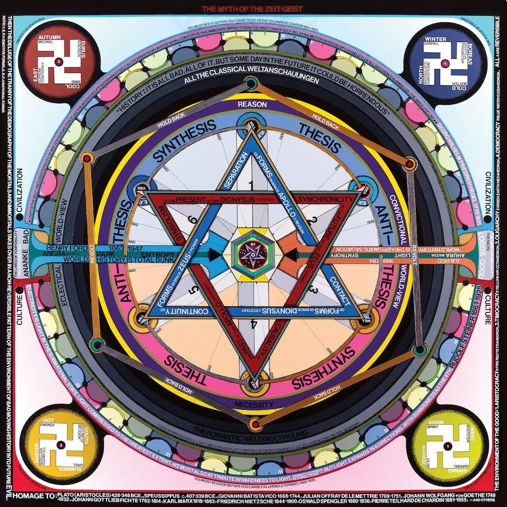 Paul Laffoley, Myth Of The Zeitgeist, 2013. Courtesy Kent Fine Art