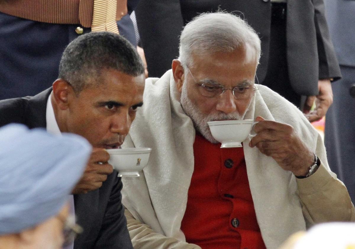 Barack Obama junto al Primer Ministro de India, Narendra Modi, durante la celebración del Día de la República.