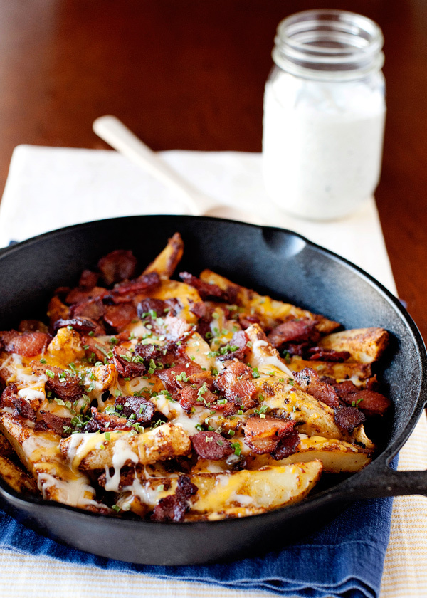 "<strong>Get the <a href=""http://bakedbree.com/baked-chili-cheese-fries-with-bacon-and-ranch"">Baked Chili Cheese Fries with Ba"