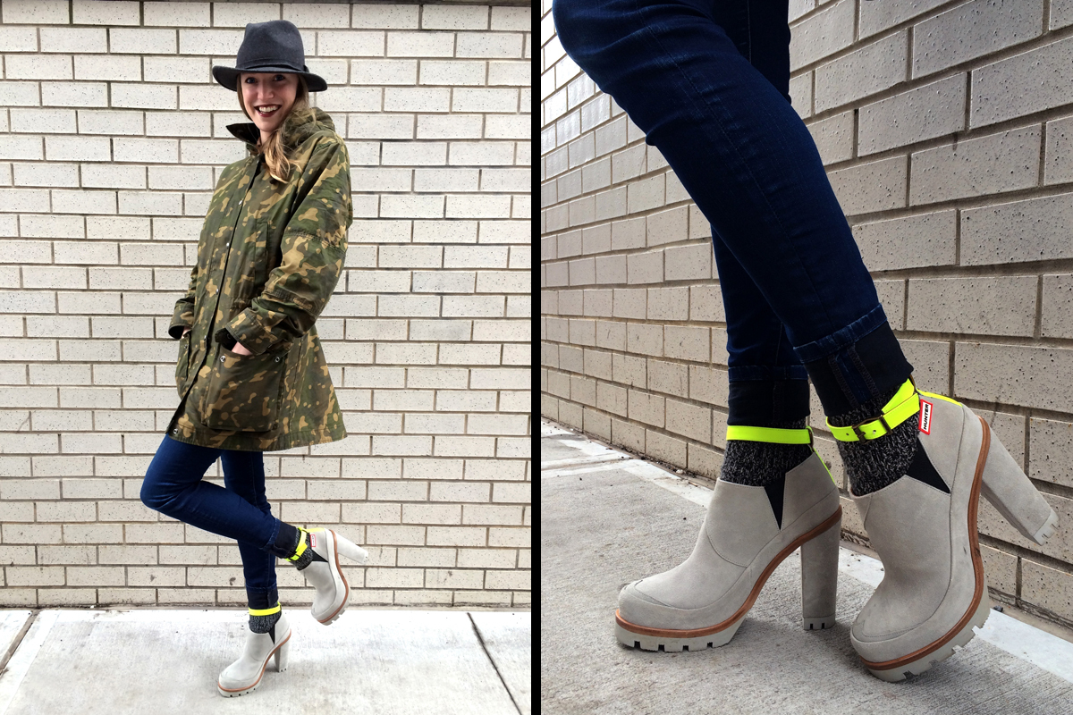 "<strong>Carly Ledbetter, Associate Lifestyle Editor</strong><em><a href=""http://us.hunterboots.com/product/original-high-heel"