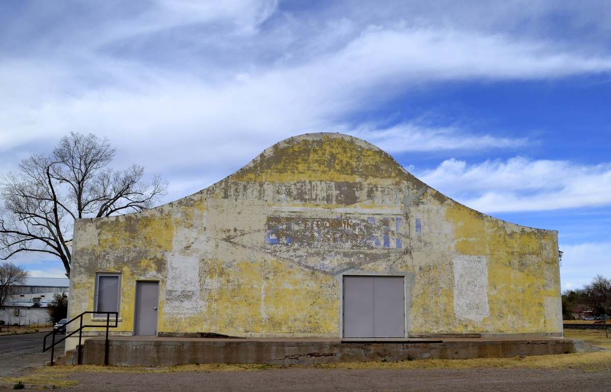 The exterior of the Crowley Theater in Marfa, Texas, is pictured on March 2, 2014. A town of 1,900 people, Marfa was founded
