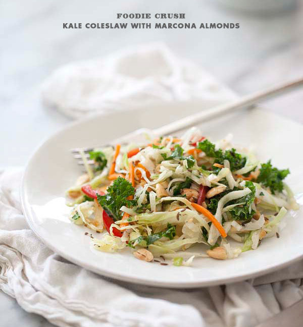 "<strong>Get the <a href=""http://www.foodiecrush.com/2012/06/kale-and-cabbage-coleslaw-with-marcona-almonds/"">Kale And Cabbage"