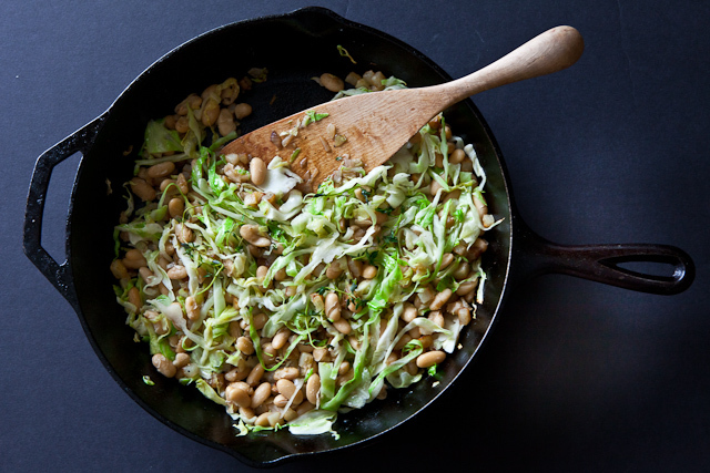 "<strong>Get the <a href=""http://www.steamykitchen.com/14838-white-beans-and-cabbage.html"">White Beans And Cabbage recipe</a>"