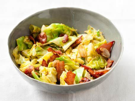 "<strong>Get the <a href=""http://www.huffingtonpost.com/2011/10/27/sauteed-cabbage-and-bacon_n_1058853.html"">Sauteed Cabbage A"