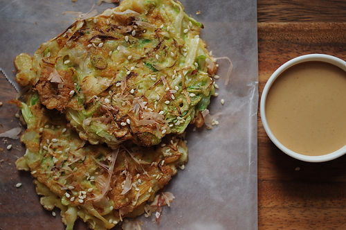 "<strong>Get the <a href=""http://food52.com/recipes/12352-okonomiyaki"" target=""_blank"">Okonomiyaki recipe</a> by Midge from Fo"