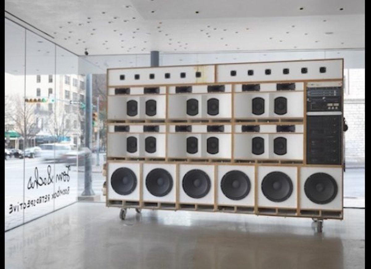 Mixed media. 97 x 148 x 30 inches. Installation view, The Contemporary Austin – Jones Center, Austin, 2015. Courtesy Tom Sach