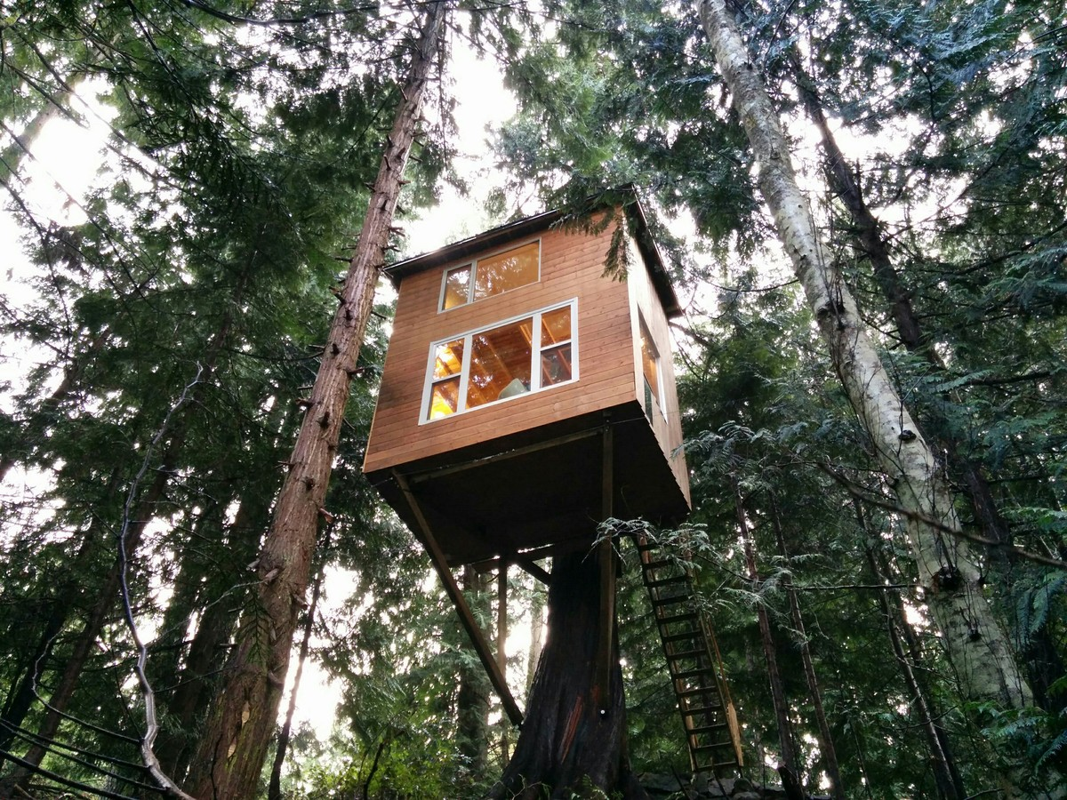 cheap tiny houses. Geoff De Ruiter Designed And Built This Tiny Home Treehouse On Pender Island In British Columbia Cheap Houses