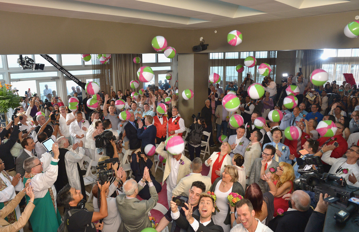 FORT LAUDERDALE, FL - FEBRUARY 05:  A general view of atmosphere of 'Love is Love' Wedding at W Fort Lauderdale on February 5