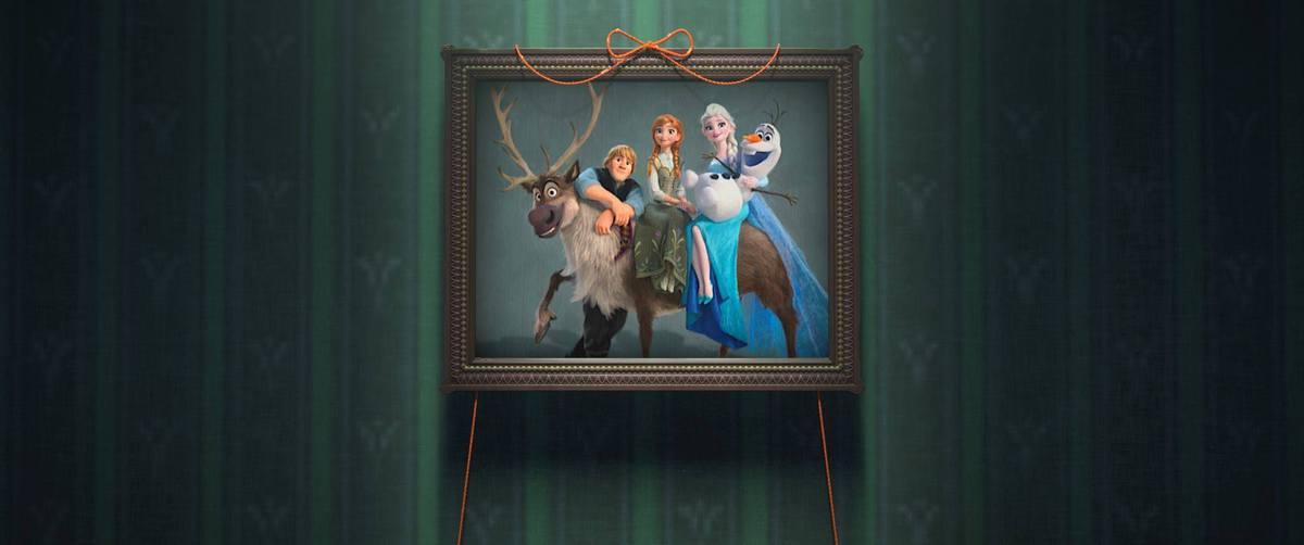 Elsa e Anna já não estarão sozinhas no palácio. Segundo esta foto, o boneco Olaf, Kristoff e a rena Sven chegaram a Arendelle