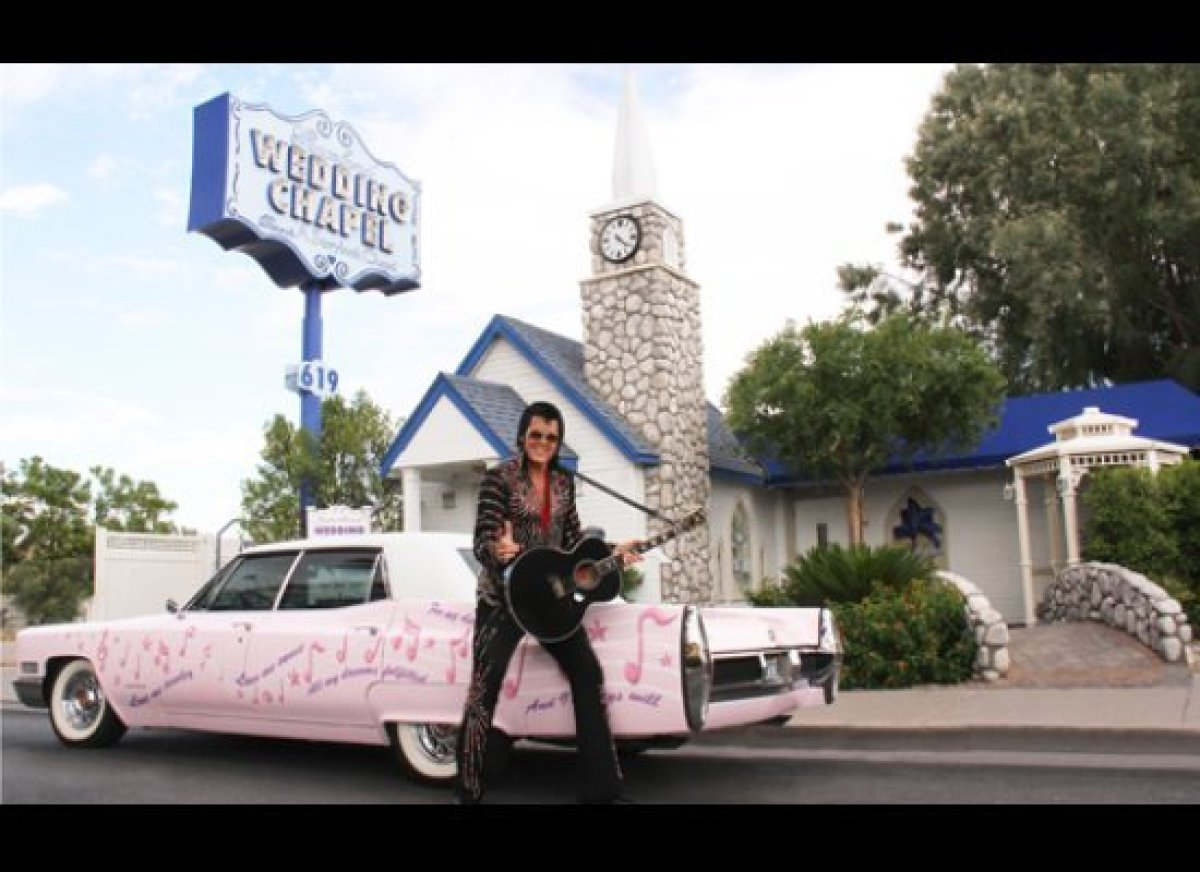 "Graceland Wedding Chapel, 619 Las Vegas Blvd. South  <a href=""http://www.cheapflights.com"" target=""_hplink"">Cheapflights.co"