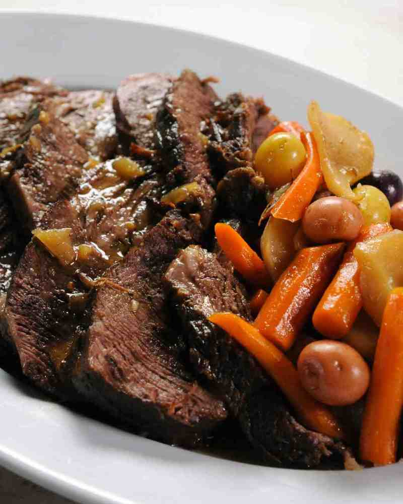 "<strong>Get <a href=""http://www.marthastewart.com/956166/pot-roast"" target=""_blank"">Martha Stewart's Pot Roast recipe</a> fro"