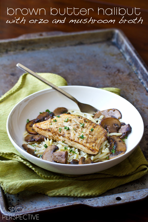 "<strong>Get the <a href=""http://www.aspicyperspective.com/2013/02/mushroom-broth-brown-butter-seared-halibut.html"" target=""_b"
