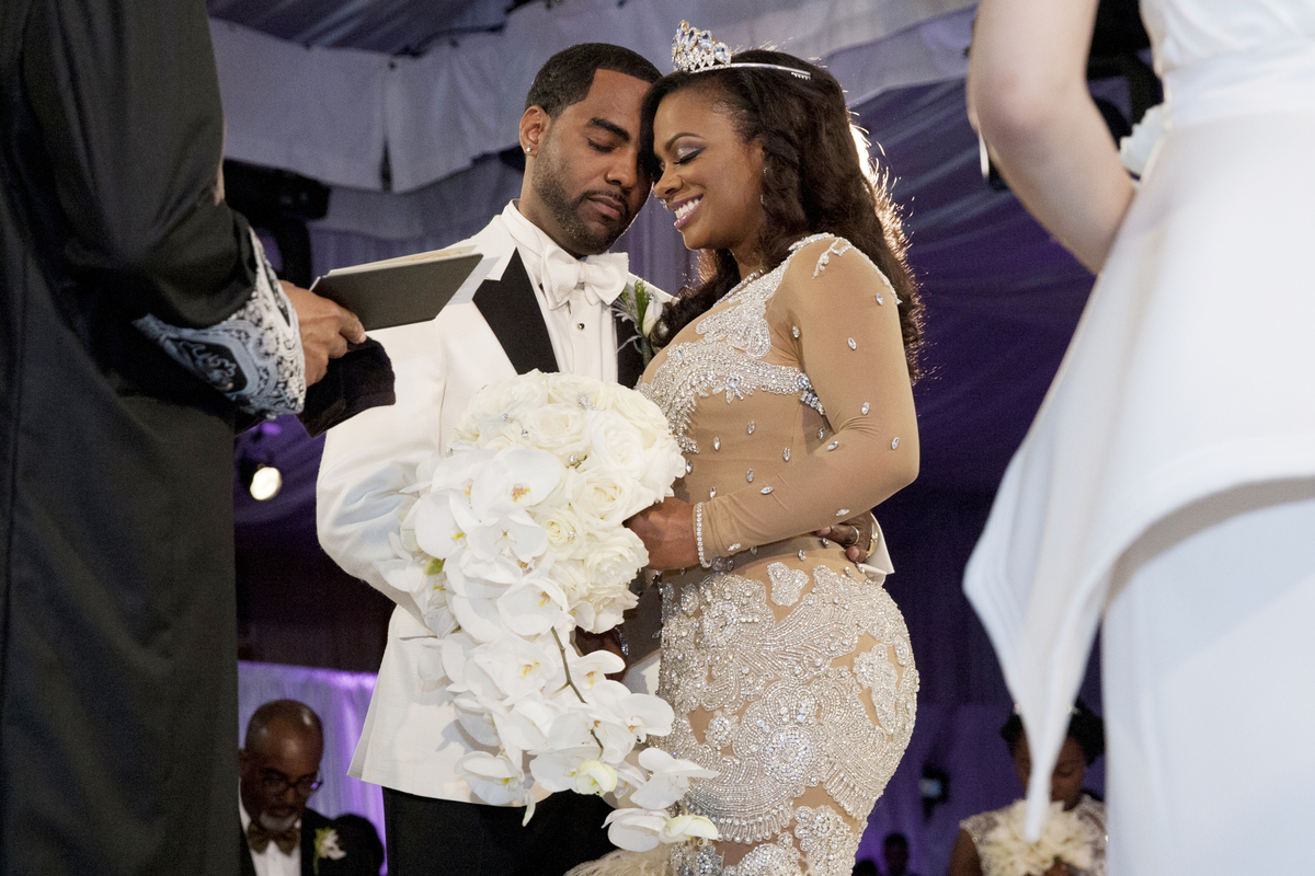THE REAL HOUSEWIVES OF ATLANTA: KANDI'S WEDDING -- Pictured: (l-r) Todd Tucker, Kandi Burruss -- (Photo by: Wilford Harewood/