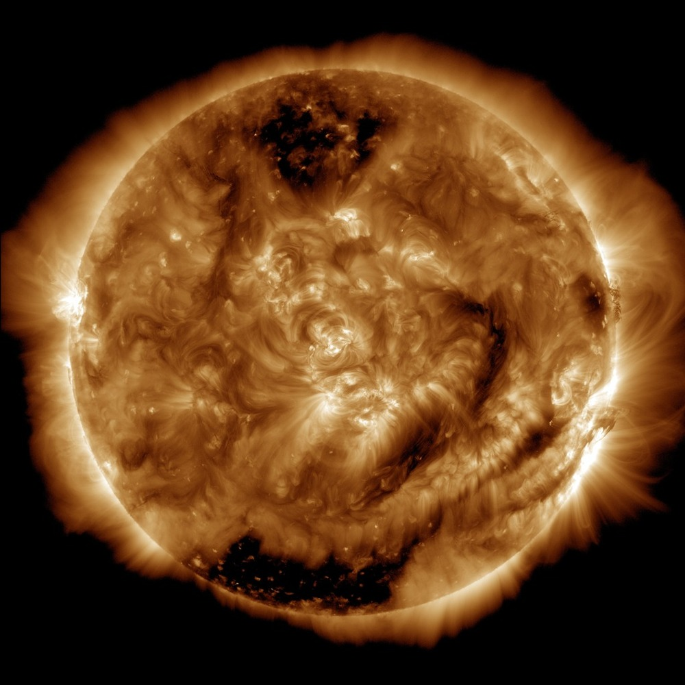 The 100 millionth image captured by the Advanced Imaging Assembly on NASA's Solar Dynamics Observatory. It was taken on Jan.