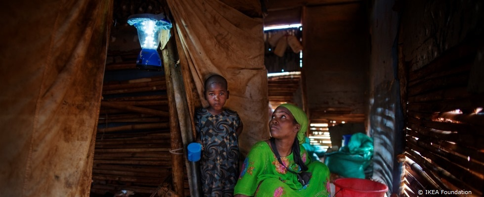 From Feb. 1 to March 28, for every LED light bulb sold at Ikea, the Ikea Foundation will donate $1 to UNHCR to light refugee