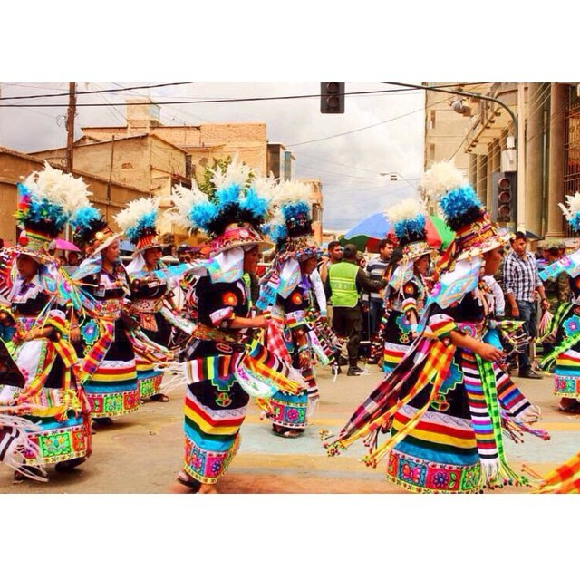 Carnaval in Oruro, Bolivia on February 16, 2015.