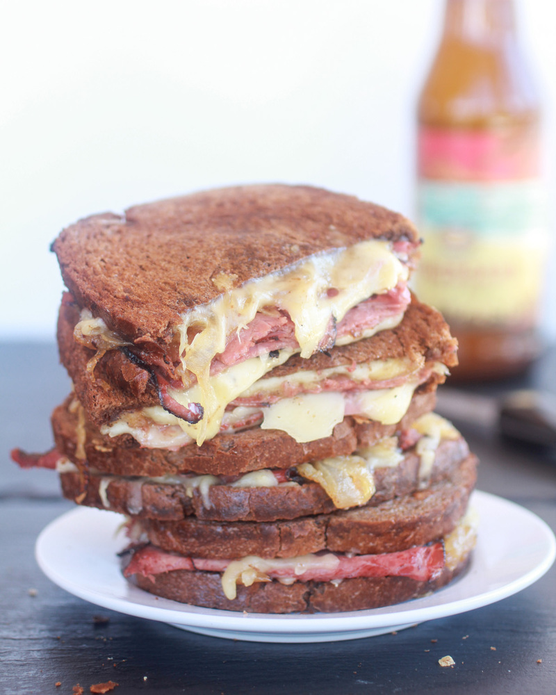 """<strong>Get the <a href=""""http://www.halfbakedharvest.com/pastrami-and-caramelized-onion-grilled-cheese/"""" target=""""_blank"""">Past"""