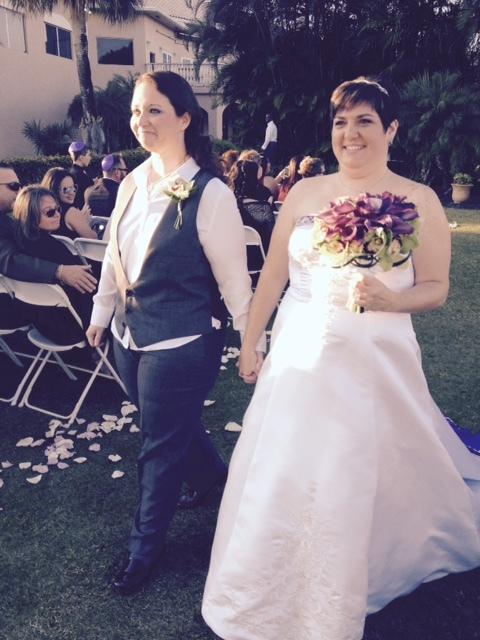 """""""We got married on Sunday in Boca Raton, Florida."""" - Lisette"""