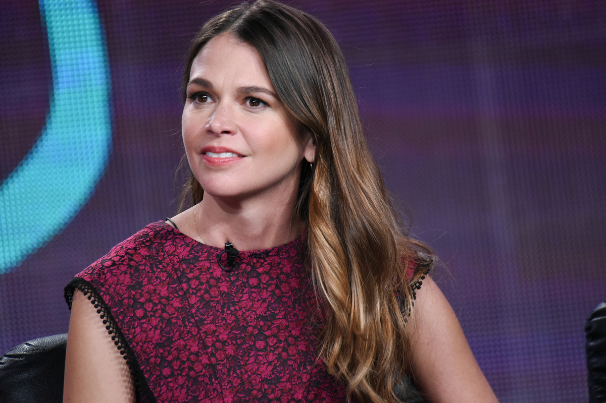 "Sutton Foster speaks on stage during TV Land's ""Younger"" panel at the Viacom 2015 Winter TCA on Saturday, Jan. 10, 2015, in P"