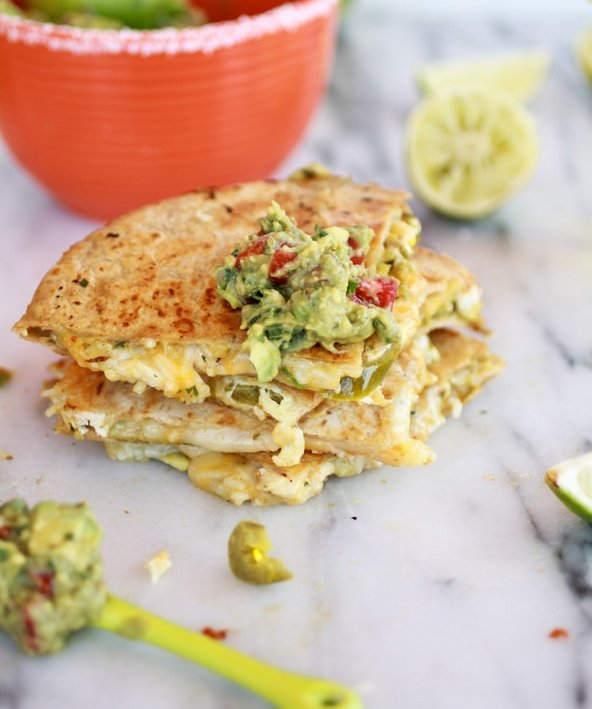 "<strong>Get the <a href=""http://www.halfbakedharvest.com/margarita-chicken-quesadilla-with-margarita-guacamole/"" target=""_bla"