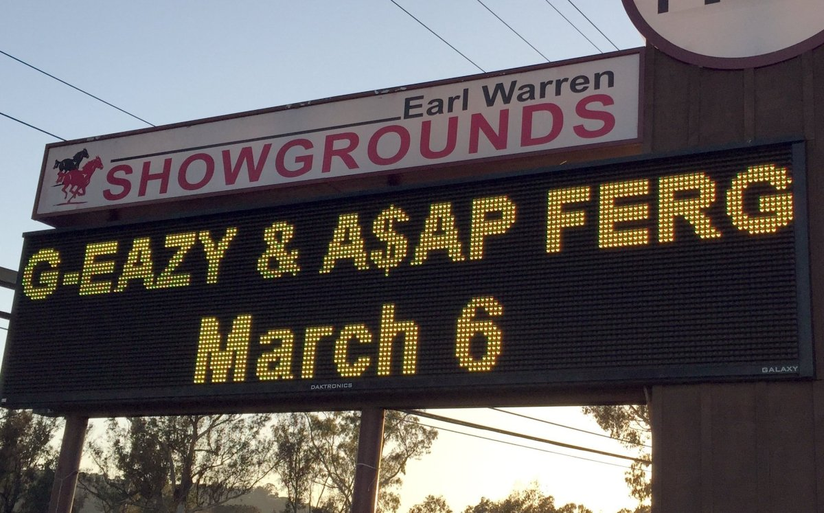 """<strong>G-Eazy</strong> and <strong>A$AP Ferg</strong> in concert in Santa Barbara, CA  Photo credit: <a href=""""http://hapn.co"""