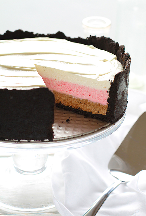 """<strong>Get the <a href=""""http://iambaker.net/neapolitan-cheesecake/"""" target=""""_blank"""">Neapolitan Cheesecake recipe</a> from i"""