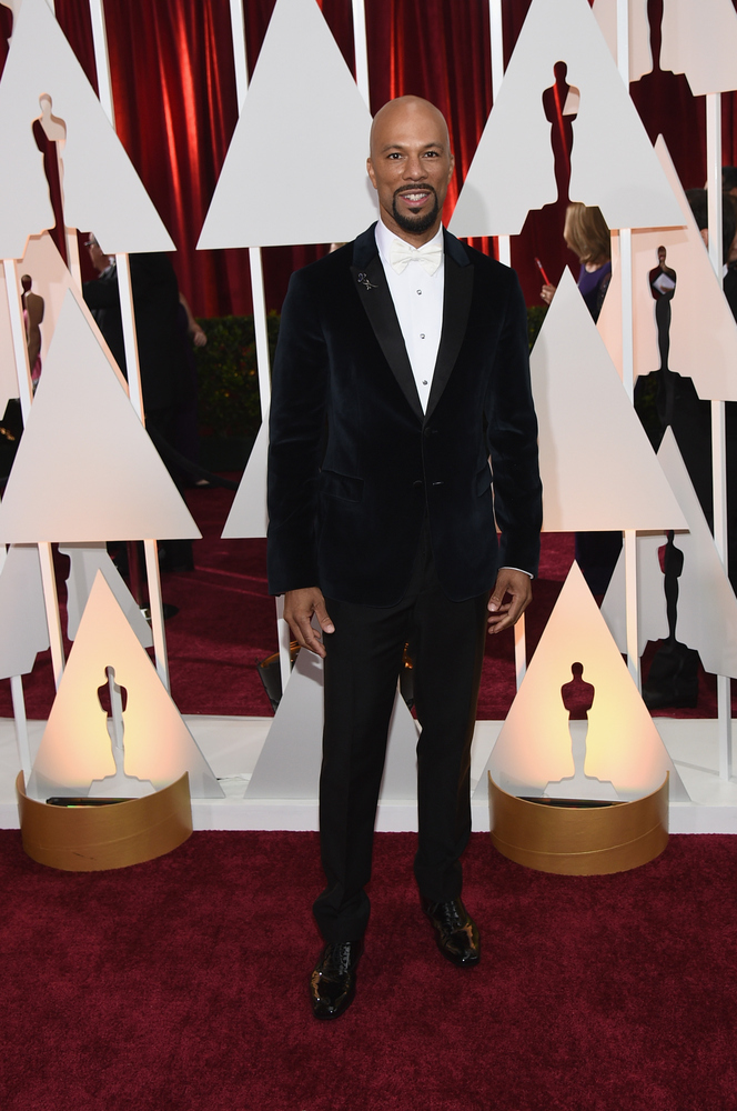 HOLLYWOOD, CA - FEBRUARY 22:  Rapper/actor Common attends the 87th Annual Academy Awards at Hollywood & Highland Center on Fe