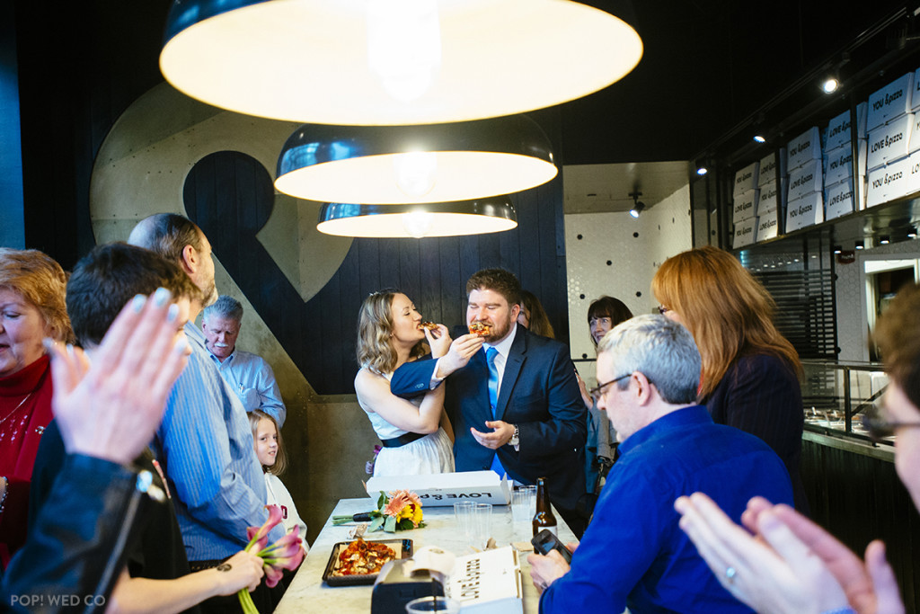 """A Pi Day wedding at <a href=""http://andpizza.com/"" target=""_blank"">&pizza</a> in D.C."" - Maggie Winters"