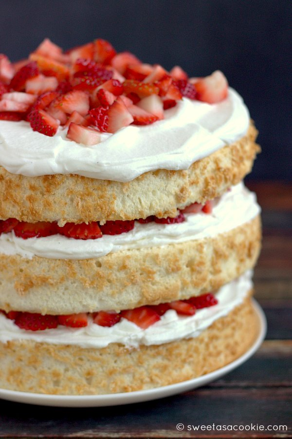 Easy Strawberry Shortcake With Angel Food Cake