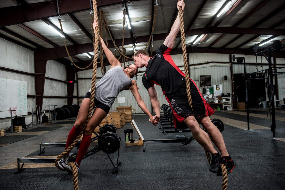 Crossfit Gym Photography CrossFit Couple's Enga...
