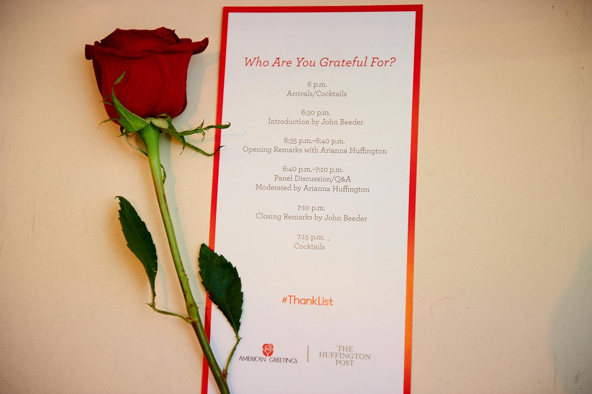 The American Greetings/Huffington Post ThankList Gratitude Panel on March 24, 2015.