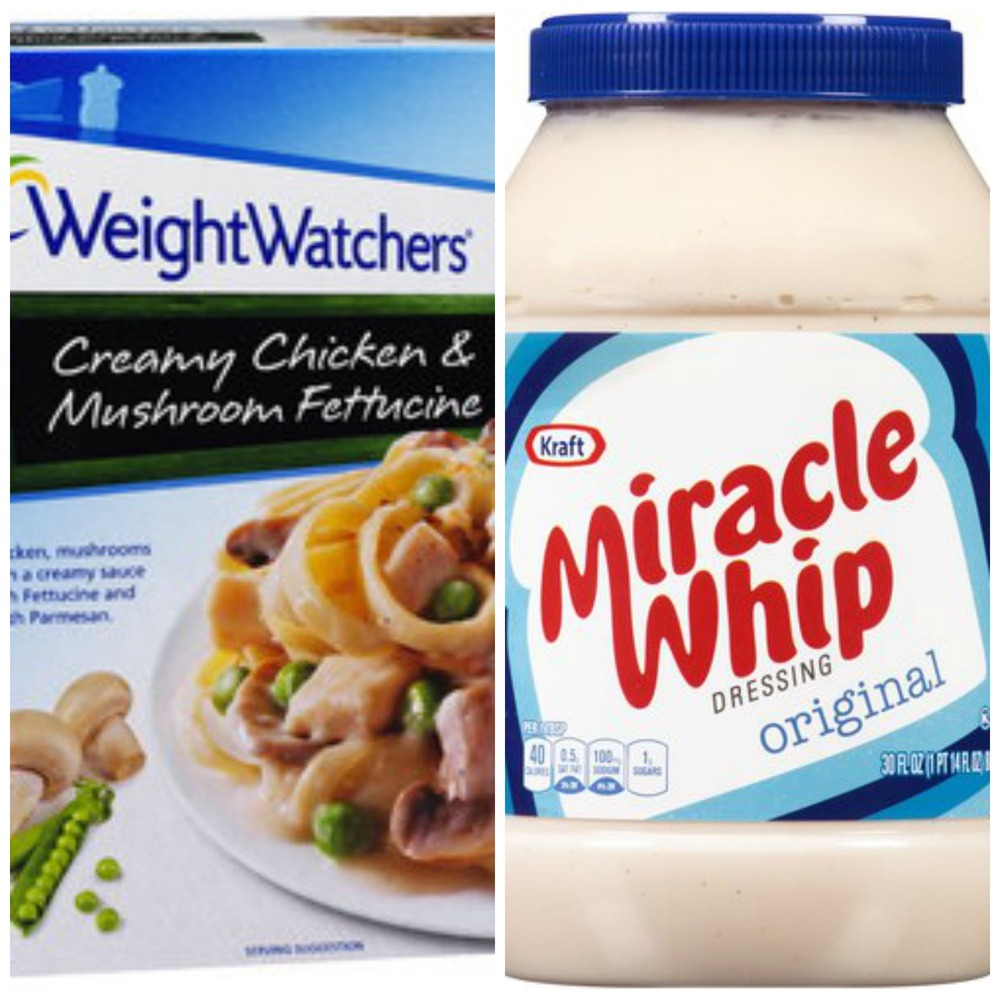 (Heinz) WeightWatchers and (Kraft) Miracle Whip (you into shape)