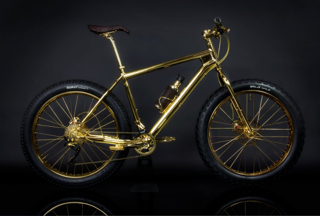 """Jewelry designer sells this<a href=""""http://www.thehouseofsolidgold.com/24k-gold-extreme-mountain-bike/"""" target=""""_blank""""> soli"""