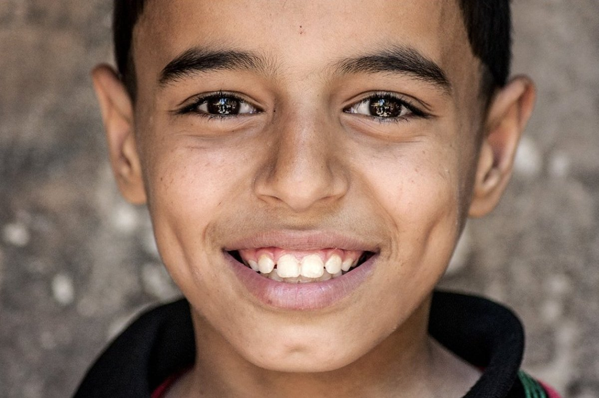 A displaced child in Aleppo, Syria. (Jesuit Refugee Service)