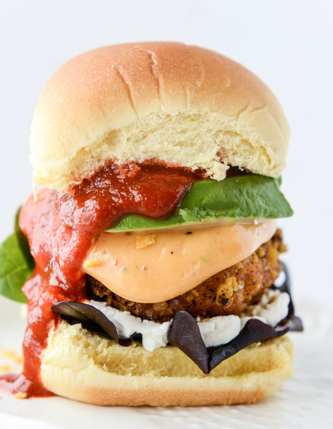 """<strong>Get the <a href=""""http://www.howsweeteats.com/2015/02/tortilla-crusted-chipotle-salmon-sliders/"""" target=""""_blank"""">Torti"""